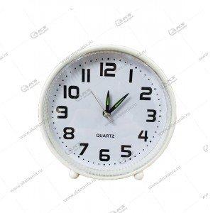 Часы 008 будильник белые
