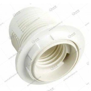 Патрон пластиковый с кольцом, E14, белый, термостойкий пластик (SBE-LHP-sr-E14)