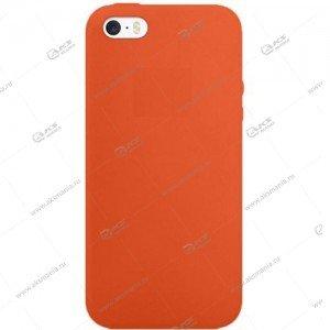 Silicone Case (Soft Touch) для iPhone 5/5S/5SE красно-оранжевый