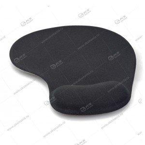"""Гелевый коврик для мышки VS """"4206"""", (200*235*3 мм) ткань+резиновое основание, черный"""