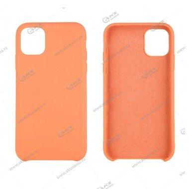 Silicone Case (Soft Touch) для iPhone 11 Pro Max оранжевый