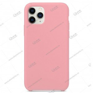 Silicone Case (Soft Touch) для iPhone 11 Pro Max нежно-розовый