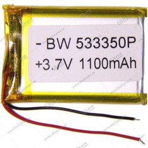 Аккумулятор универсальный 533350 1100mAh литий-ионный