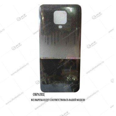 Силикон Huawei Honor 9C мрамор черный с блестками
