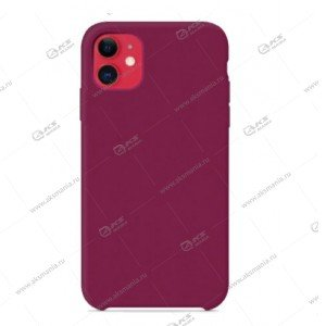 Silicone Case (Soft Touch) для iPhone 11 Pro светло-вишневый