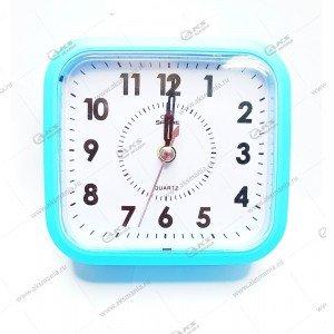 Часы 6161 будильник голубой