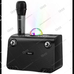 Колонка портативная Hoco BS41 Warm Sound с беспроводным микрофоном черный