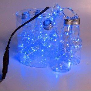 """Гирлянда """"Бутылочки водки"""" 6шт синий"""
