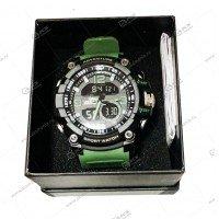 Наручные часы WEODE водонепроницаемые  черно-зеленые
