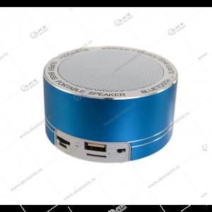 Колонка портативная  MINI Cl-669 BT FM TF USB  голубой