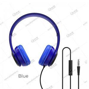 Наушники Borofone BO5 Star sound накладные с микрофоном синие