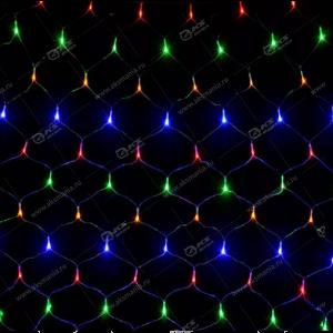 Гирлянда сетка 3х1м белый провод 320LED разноцвет.