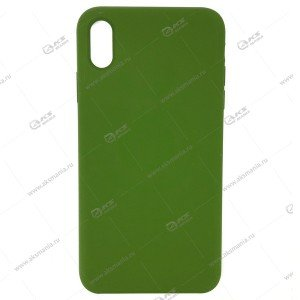 Silicone Case (Soft Touch) для iPhone XR хаки