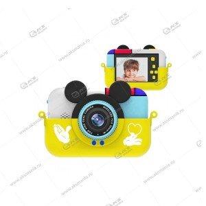 Детский фотоаппарат Children's Fun Camera Микки Маус желтый