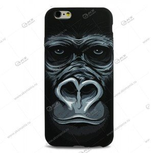 Пластик Samsung S4/i9500 шимпанзе черный №2