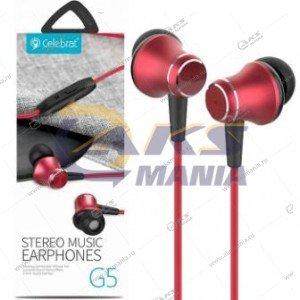 Наушники Celebrat G5 red