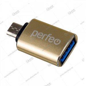 OTG Perfeo Micro, 3.0 PF-VI-O012 золотой