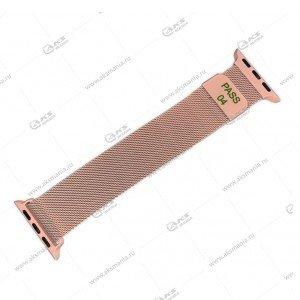 Ремешок миланская петля для Apple Watch 42mm/ 44mm персиковый