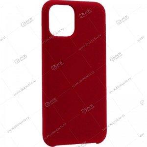 Silicone Case (Soft Touch) для iPhone 11 Pro темно-вишневый