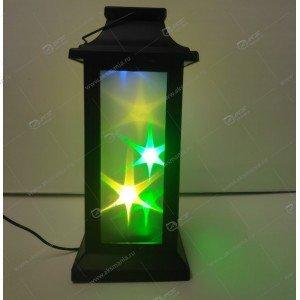 Декоративный фонарь с эффектом 3D Звезды