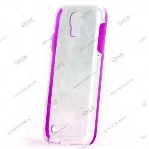 Пластик Samsung S4/i9500 прозрач с фиолетовым