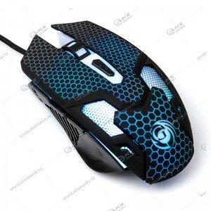 Мышь проводная MGK-25U Dialog Gan-Kata - игровая, 6 кнопок + ролик прокрутки, USB, чёрная
