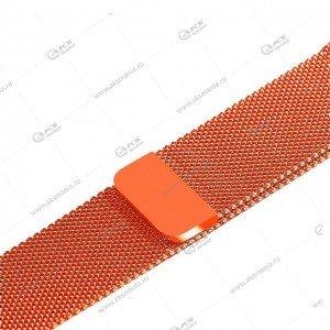 Ремешок миланская петля для Apple Watch 38mm/ 40mm оранжевый