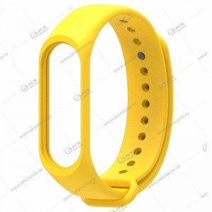 Ремешок на Mi Band 3/4 жёлтый
