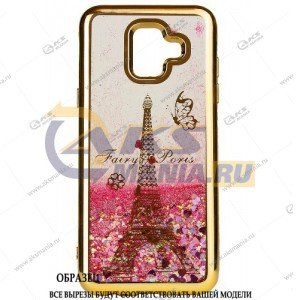 Силикон Аквариум Huawei Honor 8C Paris золото