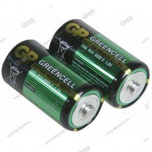 Элемент питания GP R14/2SH Greencell