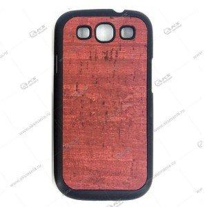 Пластик Samsung S6 дерево бордовый