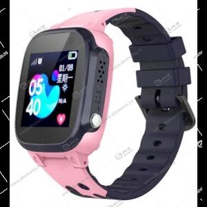 Часы детские Q15 GPS, Будильник, Шагомер. Сенсорный серо-розовые