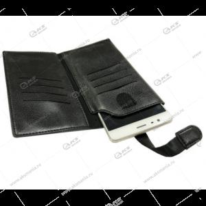 Чехол кошелек Brauffen для iPhone 4 черный