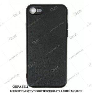 Силикон Samsung J6 кожа New 2 с логотипом черный