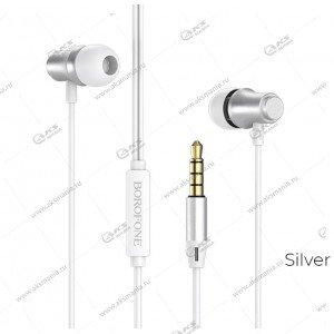 Наушники Borofone BM29 Gratified universal с микрофоном серебро