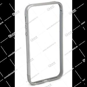 Метал-бампер для IPhon 5G серебро