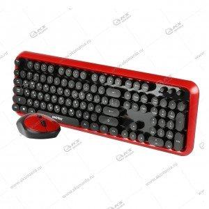 Клавиатура беспроводной набор Smartbuy SBC-620382AG черно-красный