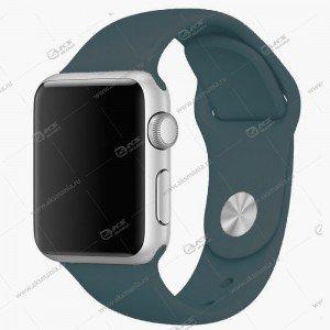 Ремешок силиконовый для Apple Watch 38mm/ 40mm серо-синий