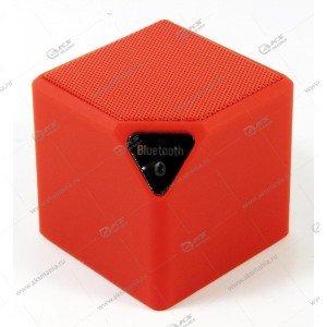 Колонка портативная  MINI-X3 BT FM TF USB  красный