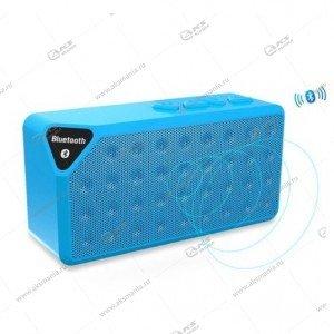 Колонка портативная  X3 BT FM TF USB  синий