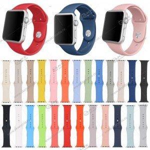 Ремешок силиконовый для Apple Watch 38mm/ 40mm розовый