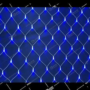 Гирлянда сетка 3х1м белый провод 320LED синий