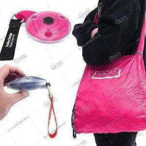 Сумка ультратонкая складная для шоппинга розовая