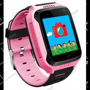 Часы детские Q66 GPS, Будильник, Шагомер. Сенсорный розовый