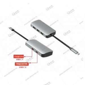 Переходник Perfeo USB Type-C dock.station 5in1 (PF-Type-C-12) PF-B4657