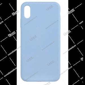 Silicone Case (Soft Touch) для iPhone XR нежно-голубой