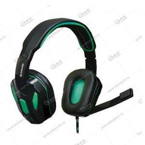 Гарнитура полноразмерная игровая Defender Warhead G-275, кабель 1,8м, черн./зеленый