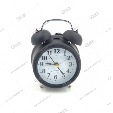 Часы 3010 будильник Quartz 11см черный