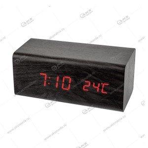 Часы Perfeo Block PF-S718T чёрный/ красный