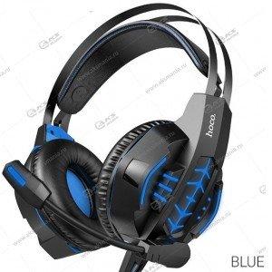 Гарнитура полноразмерная Hoco W102 Cool tour gaming синяя